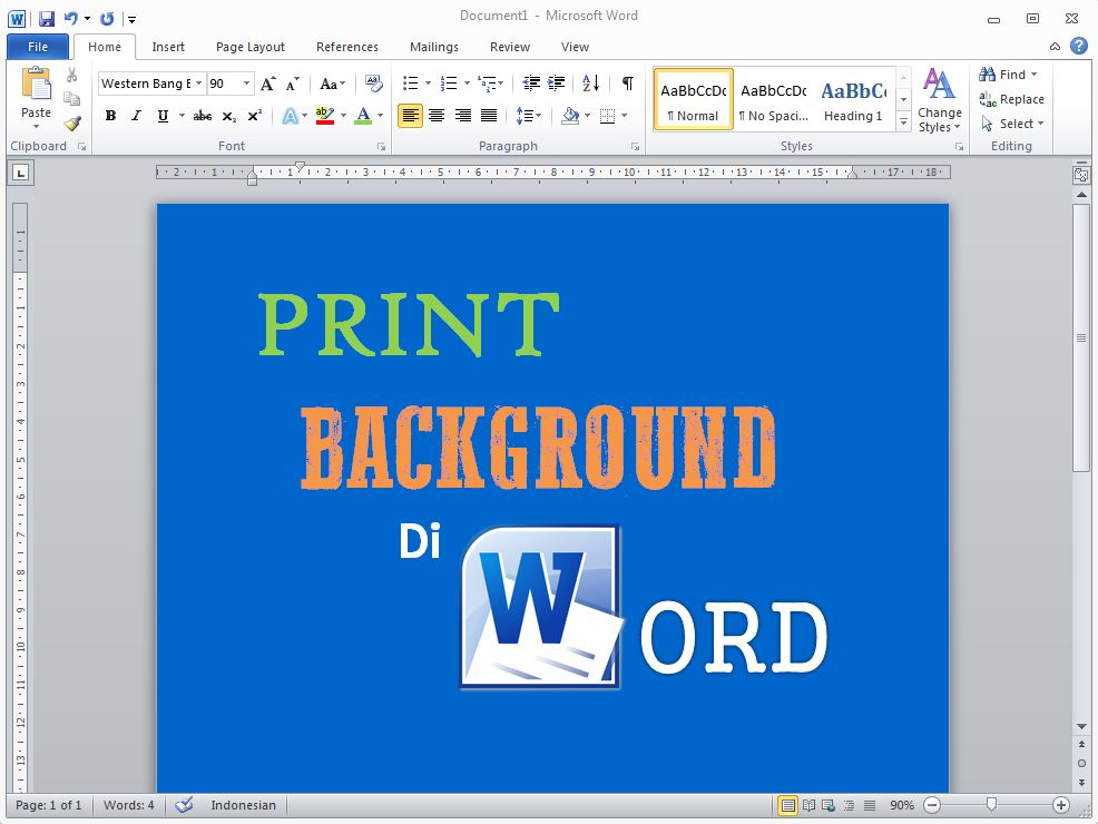 Cara Print Background di Microsoft Word