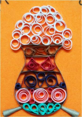 Quilling pongal pot - quillingpaperdesigns