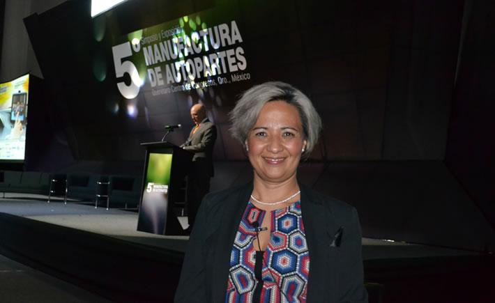 Marcela López Castro, senior Purchasing Manager de Ford México, participó en el 5° Simposio y Exposición Manufactura de Autopartes que se llevó a cabo en el Centro de Congresos de Querétaro, la semana pasada. (Foto: Vanguardia Industrial).