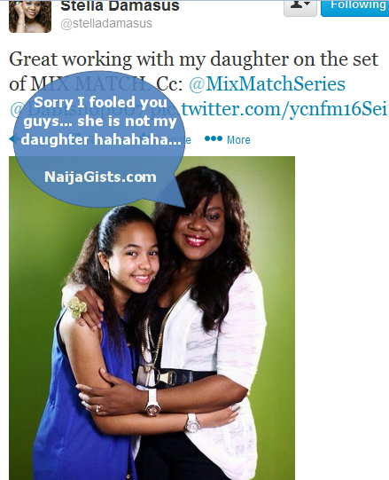 stella damasus lied daughter photo