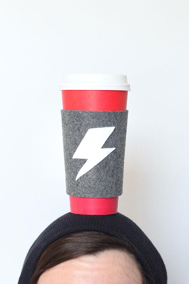 Java on the brain - Make this felt reusable coffee cuff