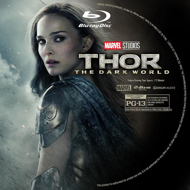 Thor The Dark World Bluray Label
