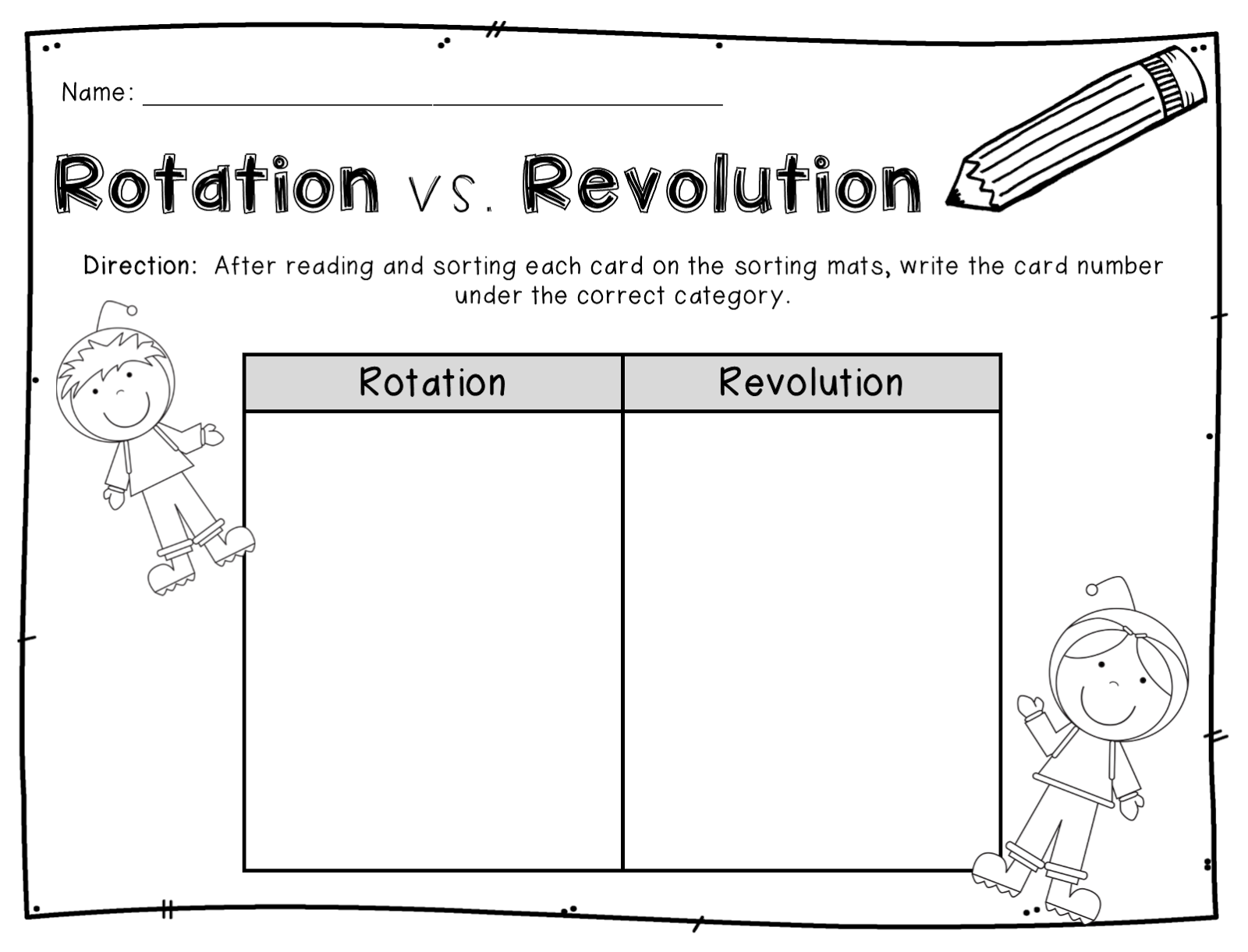 Earth Rotation Worksheet   Printable Worksheets and Activities for  Teachers [ 1221 x 1600 Pixel ]