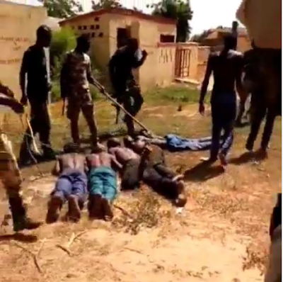 Nigerian Soldiers Catches And Flog Fulani Herdsmen (VIDEO)