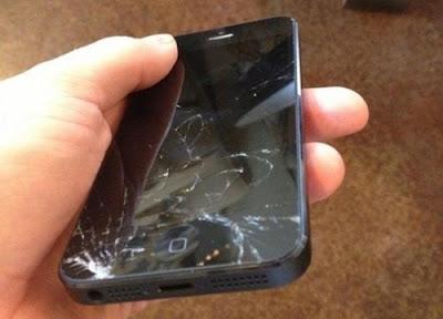 màn hình của iphone 5 bị vỡ