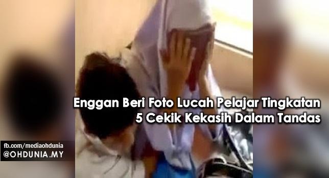 Enggan Beri Foto Lucah Pelajar Tingkatan 5 Cekik Kekasih Dalam Tandas