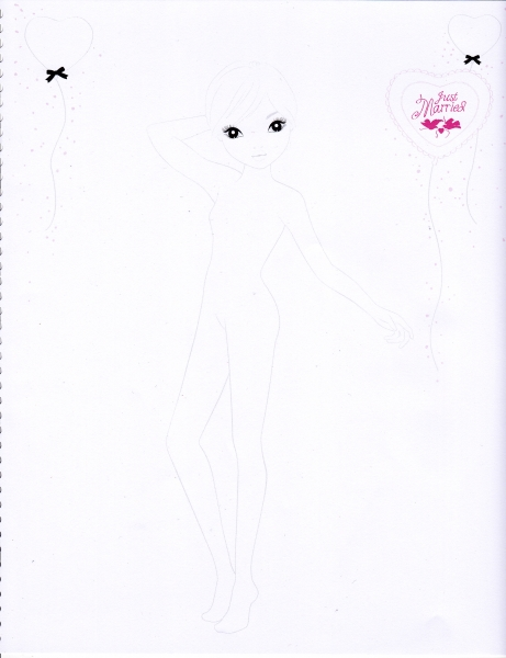 model drawing coloring pages colorful fashion