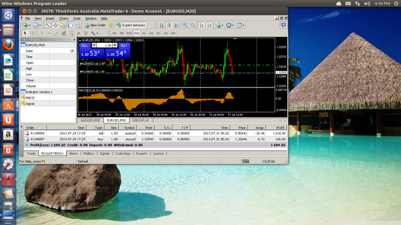 Metatrader 4 on Ubuntu Linux