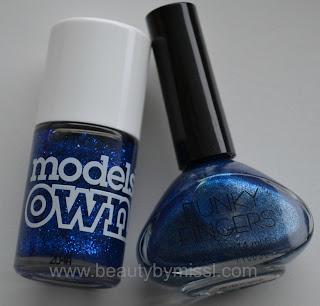 blue nail polishes
