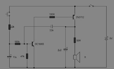 Rangkaian Sirine Sederhana 2 Transistor ~ Kumpulan Tips