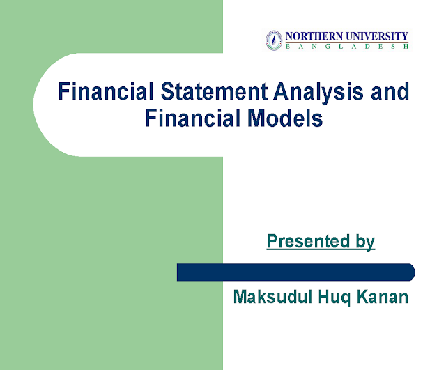 Financial Statement Analysis and Financial Models pdf