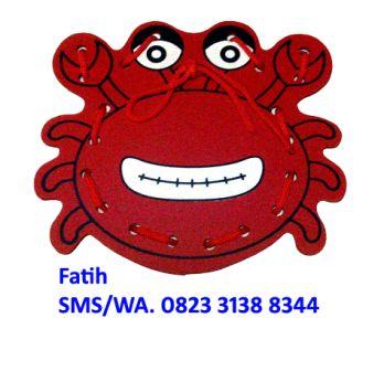 Mainan Kayu Menjahit Kepiting