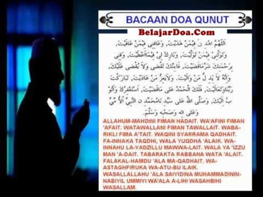 Lafal Bacaan Doa Qunut Sholat Subuh Dalam Bahasa Arab Latin Dan Terjemahan