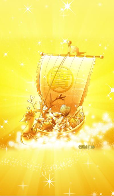 The golden ship carries lucky