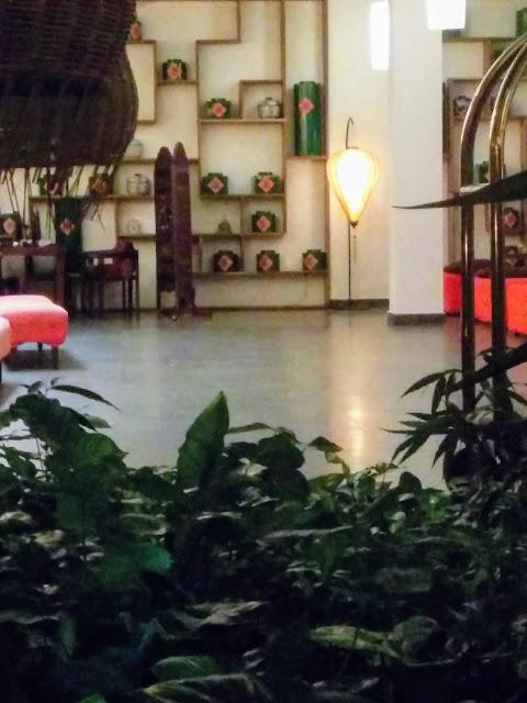 Teahouse Urban Hotel lobby in Phnom Penh Cambodia