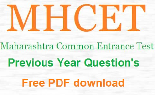 MHT CET Previous Years Question Papers