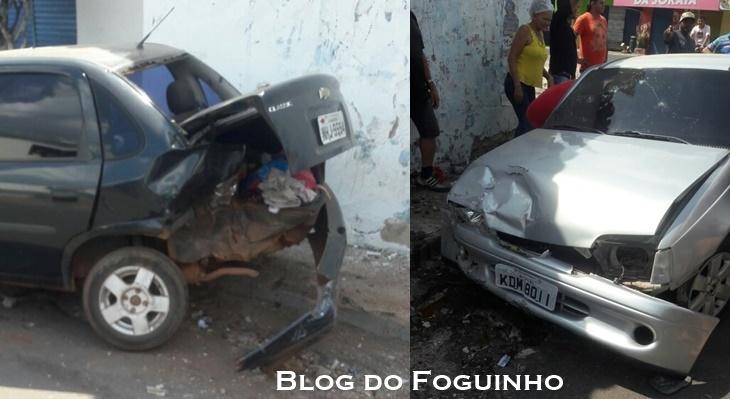 Acidente em Chapadinha: Motorista perde o controle do veiculo e colide fortemente na traseira de outro carro que estava parado.