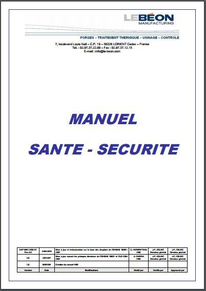 Télécharger Gratuitement Le Manuel Sante Securite Pdf Livres Et