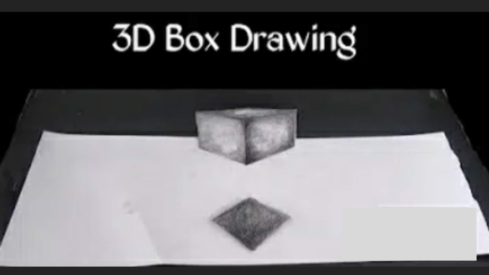 3d square drawing how to draw 3d square on paper how to draw a