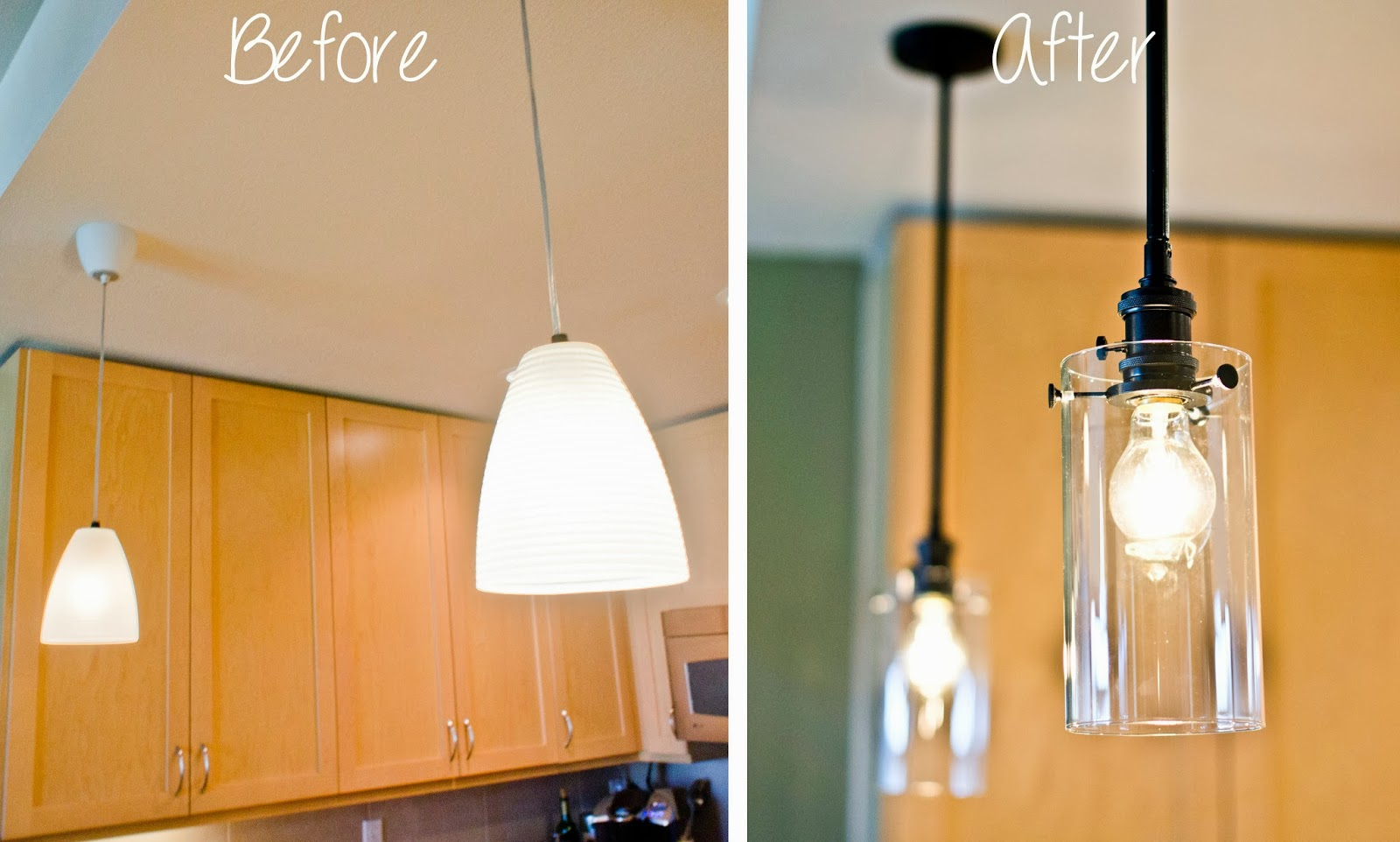 upgrading our kitchen pendant lights kitchen pendant light fixtures We were on a budget of for each light While searching the web for ideas I came across this photo from Gunkelmans Interior Design via Houzz and