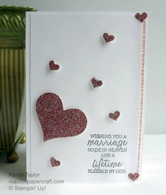 Stampin' Up! Mini treat bag heart card