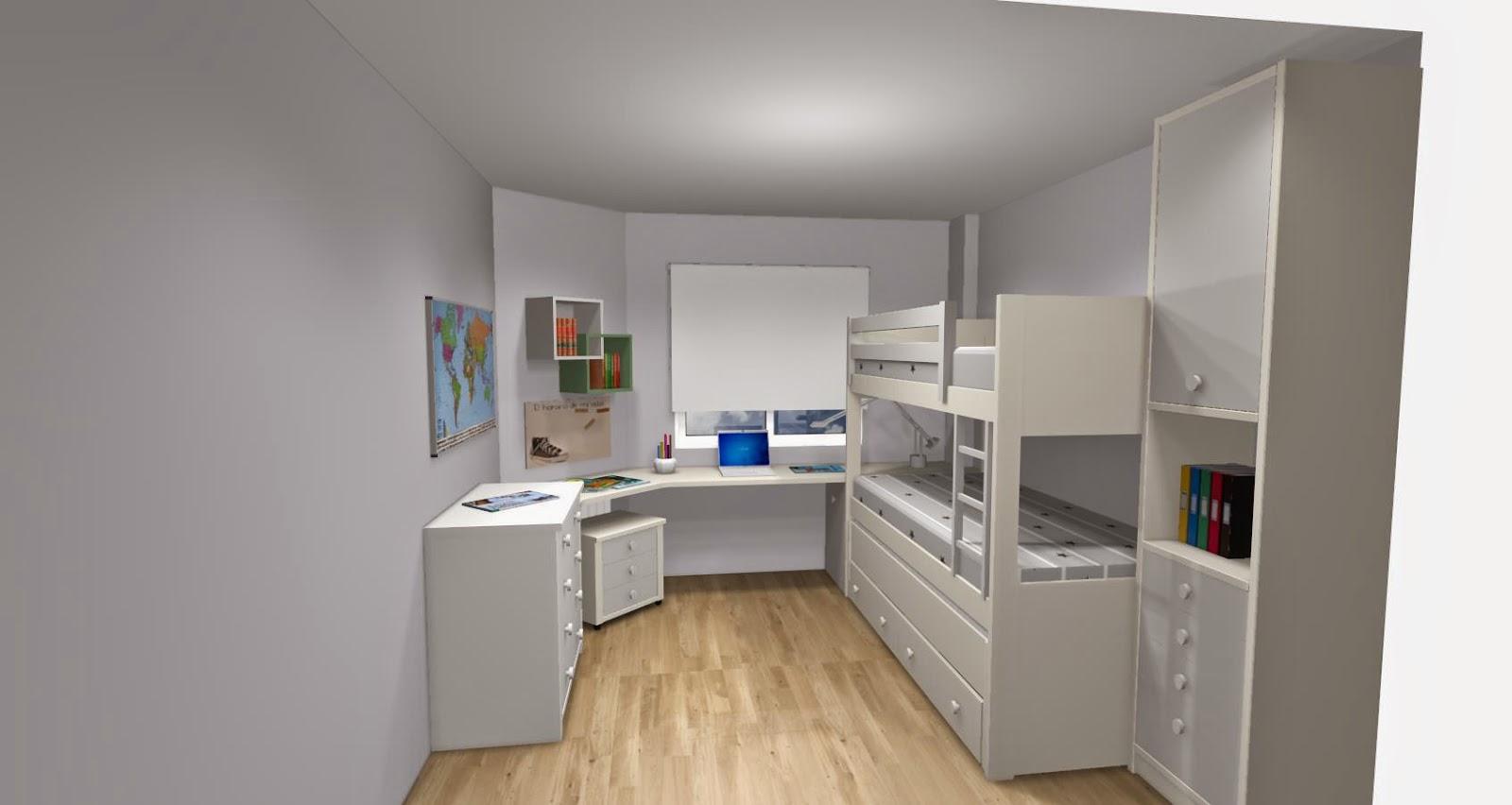 Literas para tres dormitorio infantil con literas for Dormitorios con literas