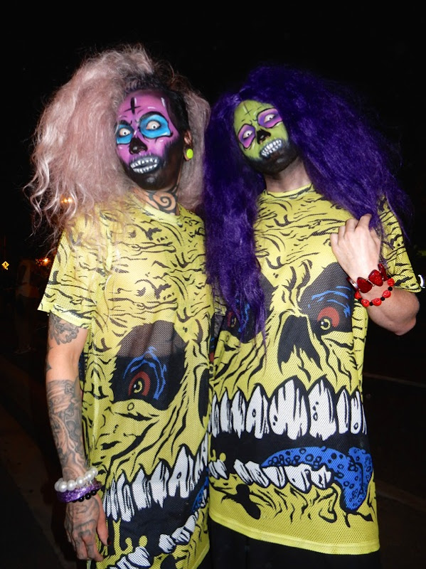 West Hollywood Halloween Pop Art zombie costumes