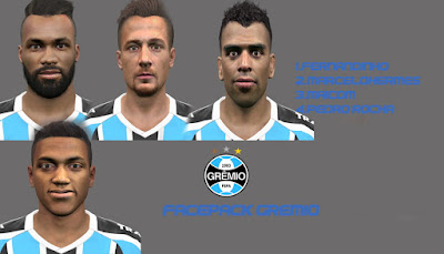 PES 2016 FacePack #3 Grêmio by Daniel FaceMaker