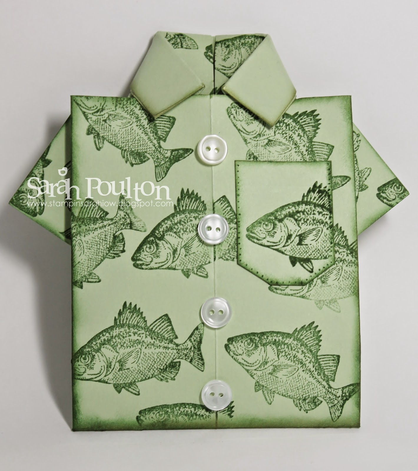 Stampin' Sarah!: By the Tide Origami Shirt Card from ... - photo#41