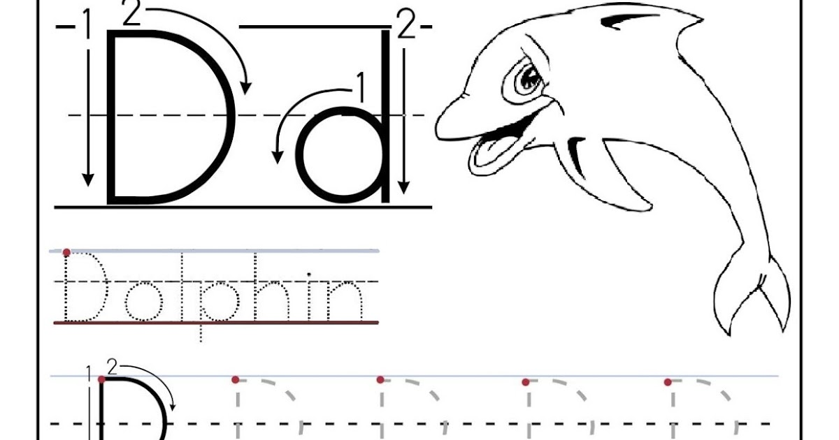 Free printable worksheet letter D for your child to learn