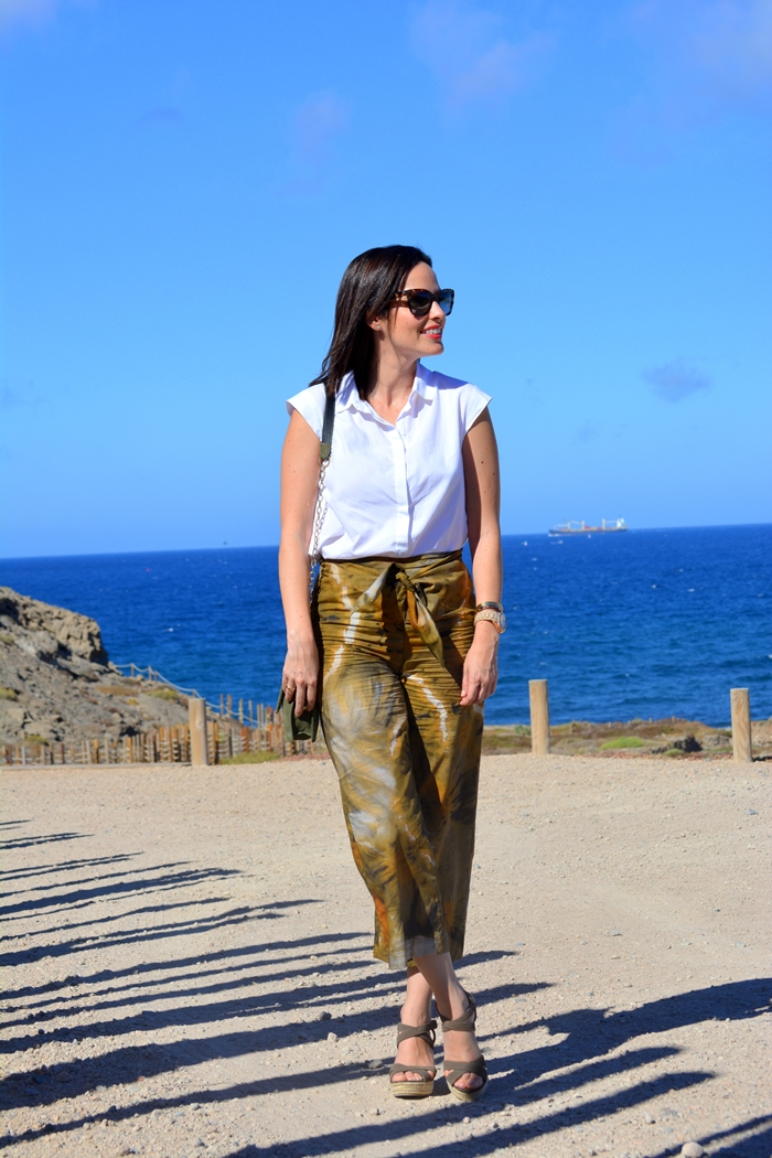 zara-green-culotte-outfit-oysho-wedges