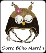 Gorro Búho marrón a crochet