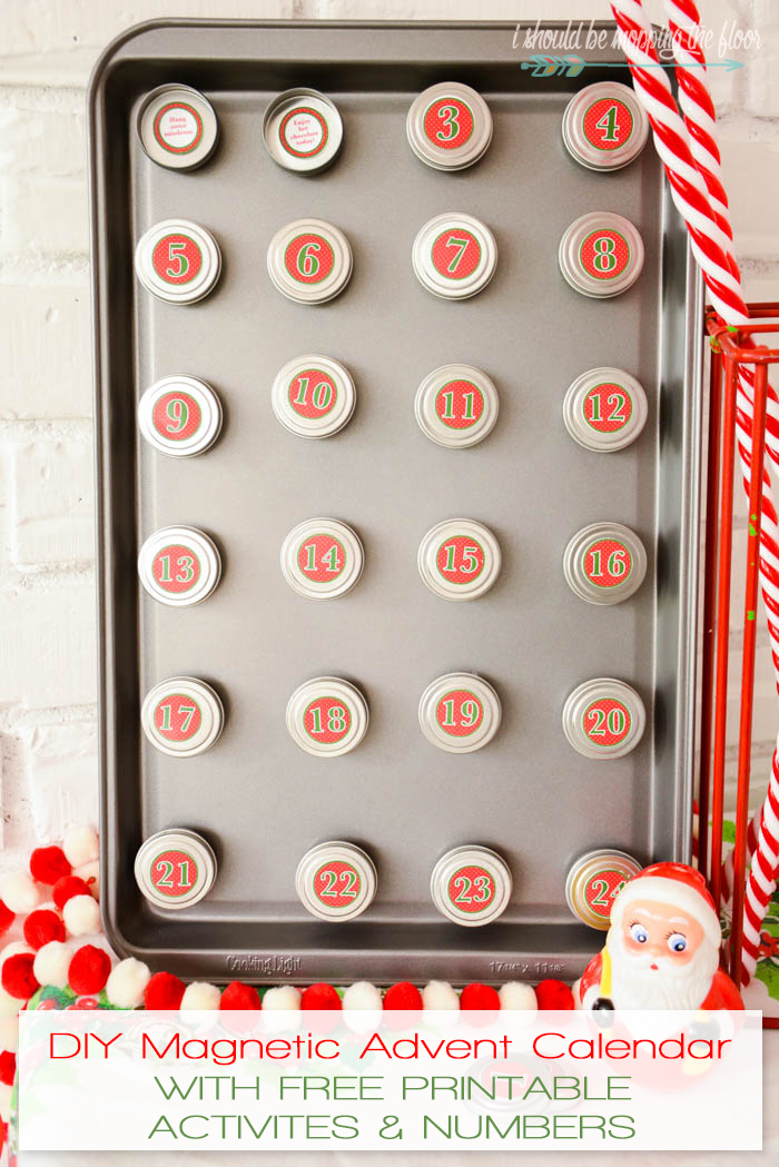 i should be mopping the floor DIY Magnetic Advent Calendar