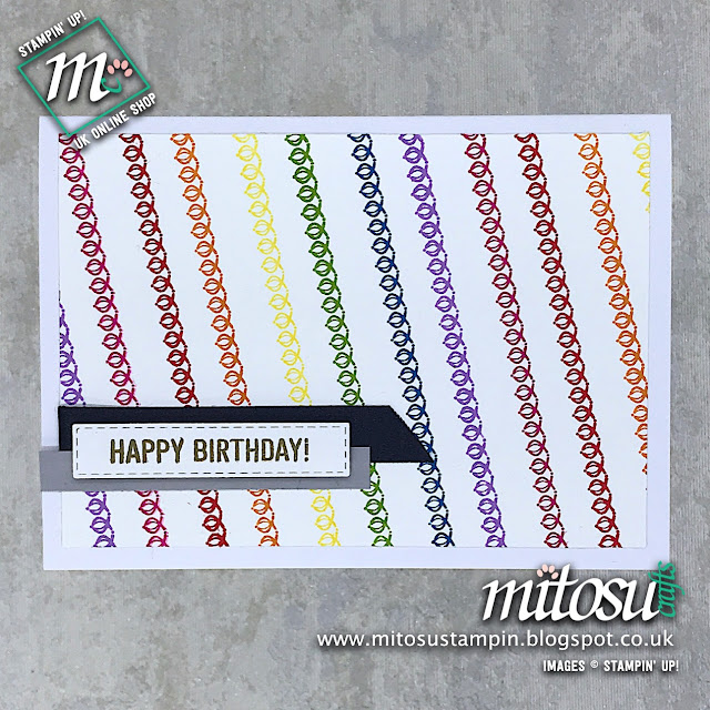 Amazing Life Stampin' Up! Birthday Rainbow Card Idea. Order Cardmaking Products from Mitosu Crafts UK Online Shop 24/7
