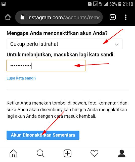 Cara Tutup Akun Instagram Untuk Sementara Lewat HP 13