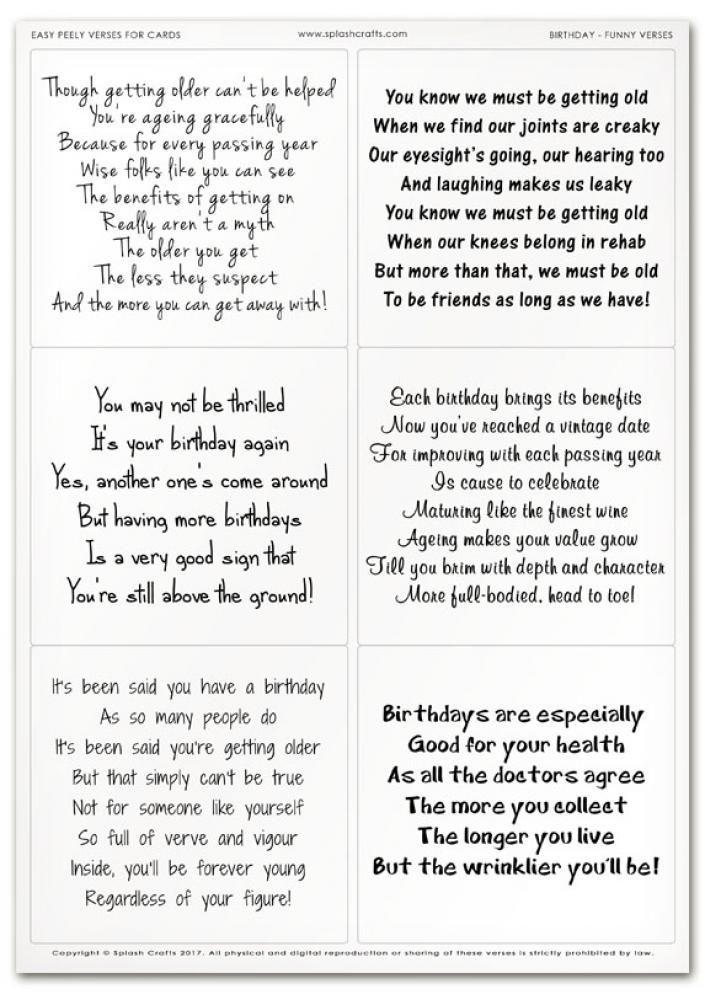 240 Short Funny Birthday Poems 2019 Happy Bday Poetry