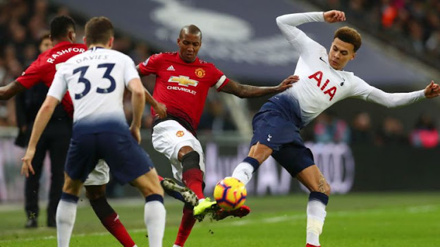 Manchester United Ashley Young and Marcus Rashford Vs Tottenham Dele Alli