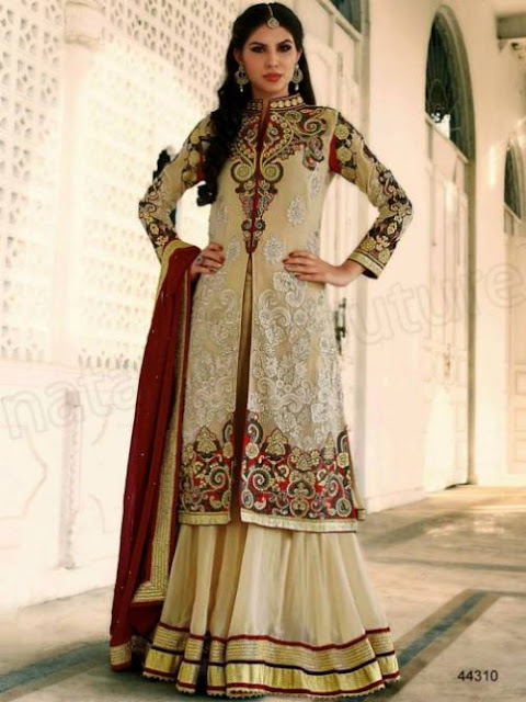 Fashion wallpapers free download new and latest sharara for Sharara dress for wedding online shopping