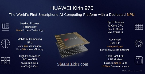 Huawei HiSilicon Kirin 970 AI Processor - Full Specs and Features