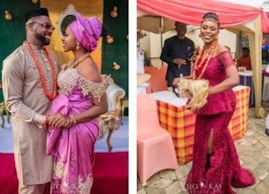 See Beautiful Pictures From TV Girl Cynthia Kamalu's Traditional Wedding