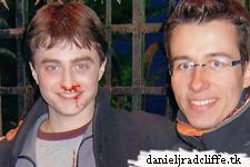 Jean-Edouard Miclot meets Daniel Radcliffe on Half-Blood Prince set