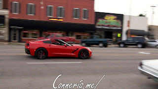 Draggin Douglas Red Chevrolet C7 Corvette