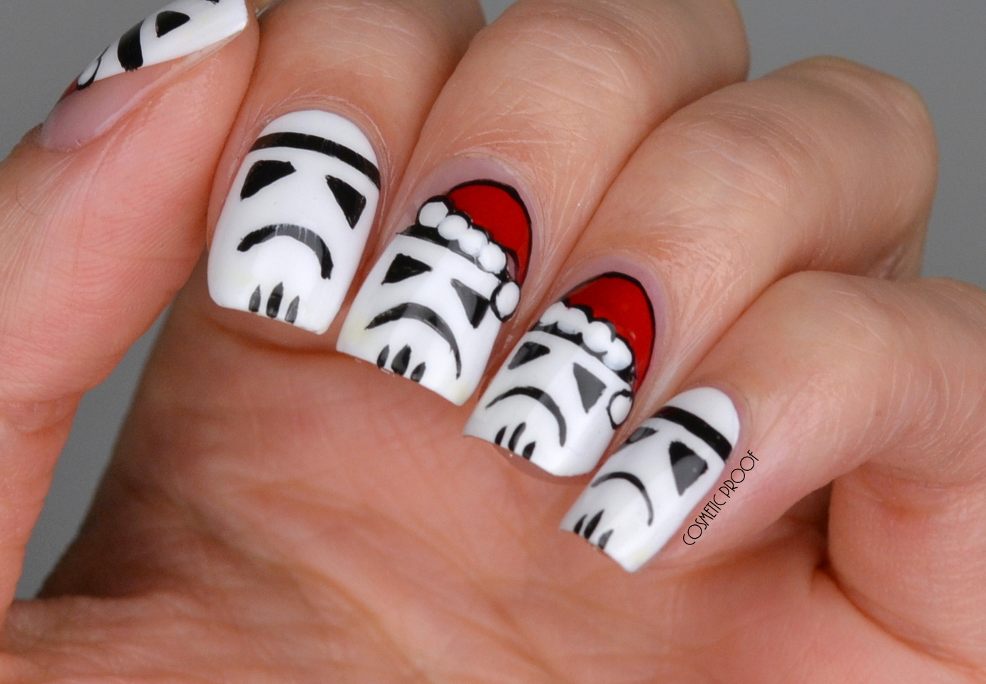 Nails Star Wars Stormtroopers Love Christmas Too Cosmetic Proof