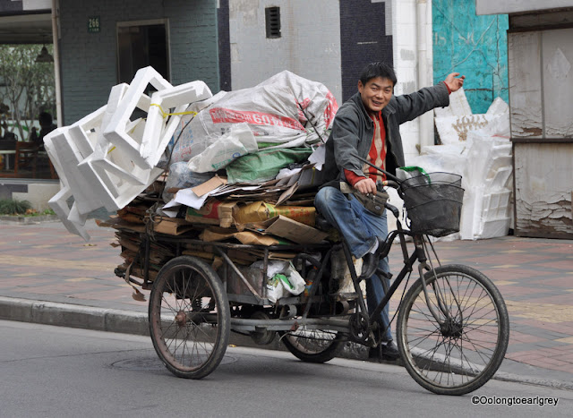 Recycling guy, Shanghai, China