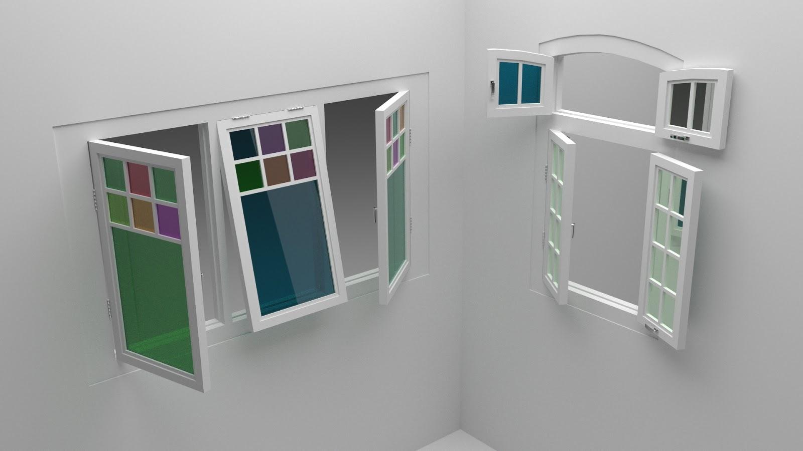 Free 3D Folding Windows .blend file