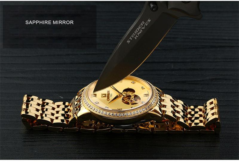 đồng hồ vàng chống xước