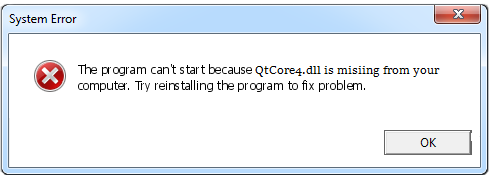 Télécharger QtCore4.dll Fichier Gratuit Installer