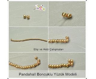 Boncuk ve Kristal Taşlarla Yüzük Modeli Yapımı, Resimli Açıklamalı 2