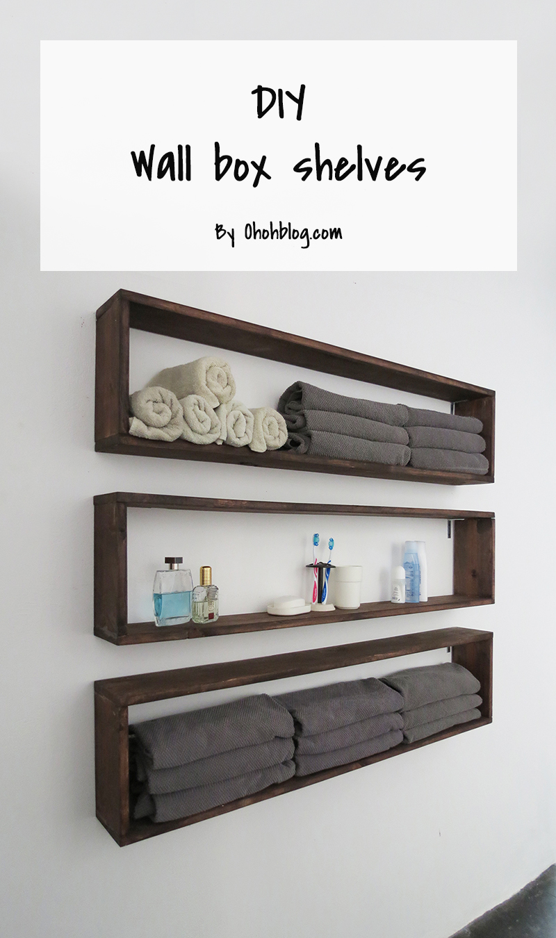 Easy diy shelves ohoh blog for How to make wall shelves easy