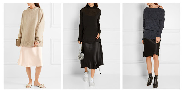 Платье-комбинация с объемным свитером